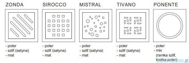 Wiper Premium Mistral Wpust Punktowy 15x15 cm Mat WP150P_MistralMat