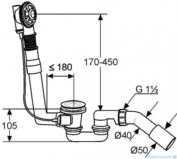 Kludi Rotexa 2000 Zestaw odpływowo-przelewowy G 1 1/2 210400000