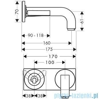 Hansgrohe Axor Citterio Jednouchwytowa bateria umywalkowa podtynkowa 39112000