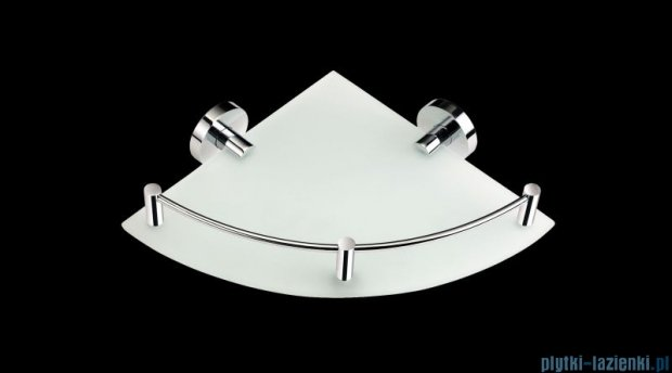 Stella Classic półka szklana narożna szkło matowe 07861