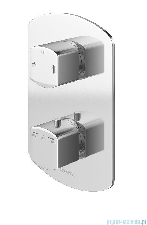 Kohlman Foxal zestaw prysznicowy z baterią termostatyczną chrom QW432FR20