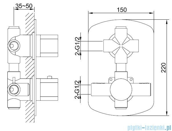 Kohlman Foxal zestaw prysznicowy chrom QW432FQ40
