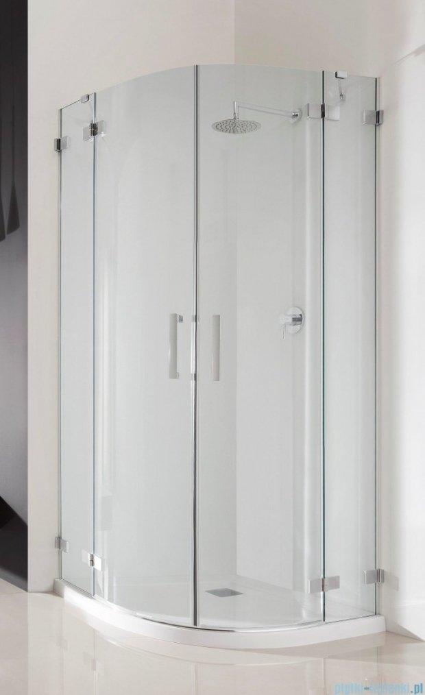Radaway Euphoria PDD Kabina prysznicowa 80x80 szkło przejrzyste + brodzik Delos A + syfon 383002-01L/383002-01R/SDA0808-01