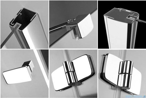 Radaway Kabina prysznicowa Fuenta KDJ+S 80x120x80 lewa szkło przejrzyste + Brodzik Argos D + syfon 381032-01L1 / 381032-01L2
