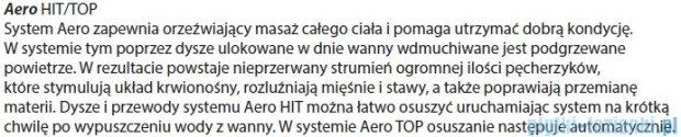 Riho Geta Wanna asymetryczna 170x90 prawa z hydromasażem HIT Aero11 BA88H1
