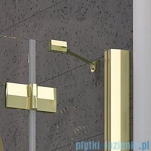 Radaway Almatea PDJ GOLD kabina półokrągła 90x90 Lewa szkło brązowe 30602-09-08N