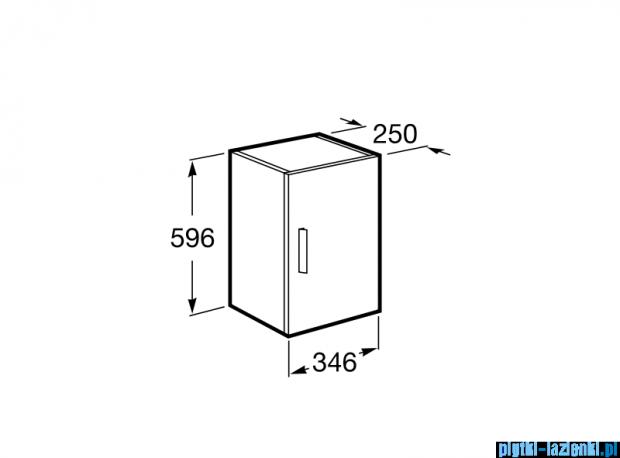 Roca Debba Kolumna niska obustronna 34,6x25x59,6 cm biały połysk A856838806