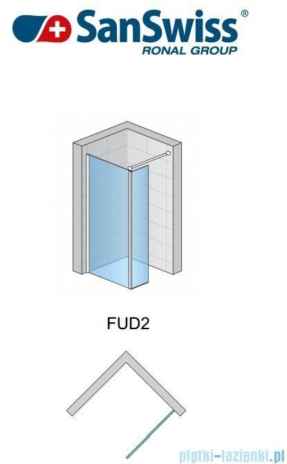 SanSwiss Fun Fud2 Ścianka jednoczęściowa 80cm profil połysk FUD208005007