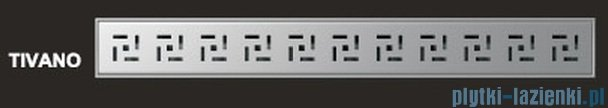 Wiper Odpływ liniowy Premium Tivano 110cm z kołnierzem mat T1100MPS100