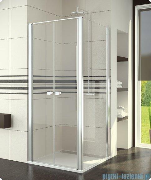SanSwiss Swing Line SLT2 Ścianka boczna 100cm profil biały SLT210000407