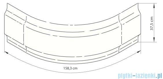 Deante Deep obudowa do brodzika 90 cm biała KTD 041O
