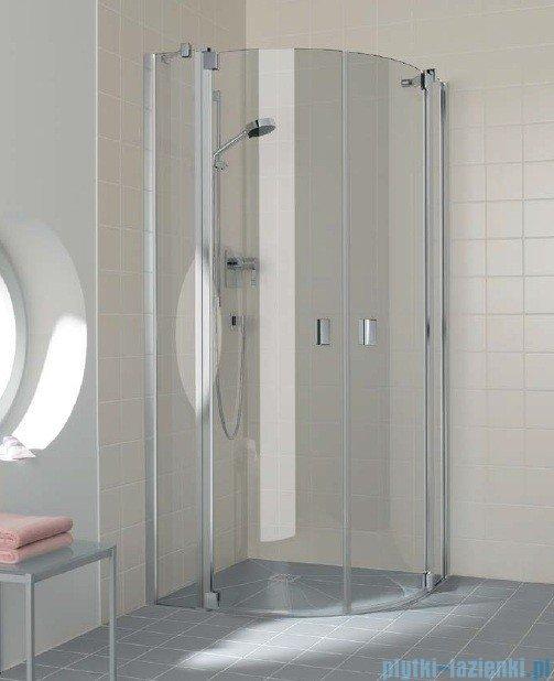 Kermi Raya Kabina ćwierćkolista, drzwi wahadłowe, szkło przezroczyste, profile srebrne 120x120x200 RAP5012020VAK