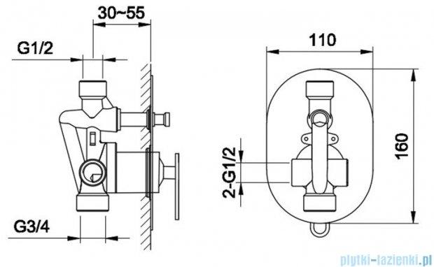Kohlman Boxine zestaw prysznicowy chrom QW210BR35
