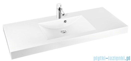 Marmorin Moira Bis 120 umywalka nablatowa 120 cm bez otworu biała 280120020010