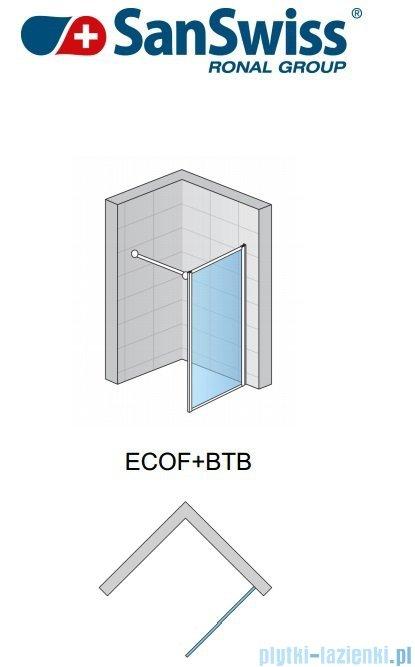 SanSwiss Eco-Line Ścianka boczna Ecof 80cm profil srebrny szkło przejrzyste ECOF08000107
