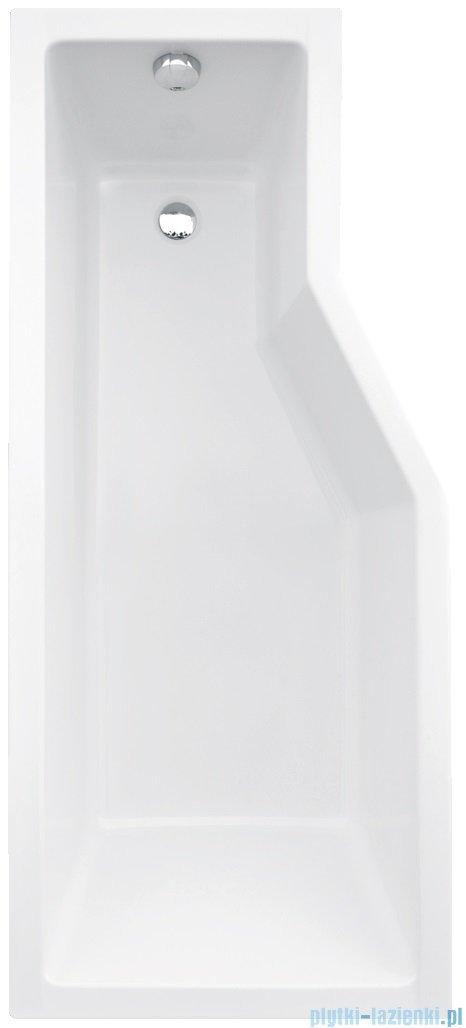 Besco Integra 170x75cm Wanna asymetryczna Lewa + parawan 2-skrzydłowy #WAI-170-PL2