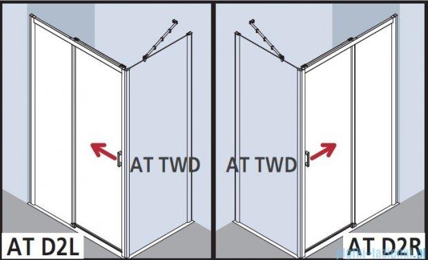 Kermi Atea Drzwi przesuwne bez progu, prawe, szkło przezroczyste KermiClean, profile srebrne 130x200 ATD2R13020VPK