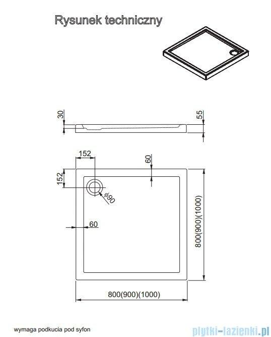 Aquaform Vico brodzik kwadratowy superniski 80x80cm 201-08004