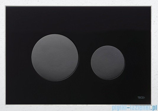 Tece Przycisk spłukujący ze szkła do WC Teceloop szkło czarne przyciski czarne 9.240.657