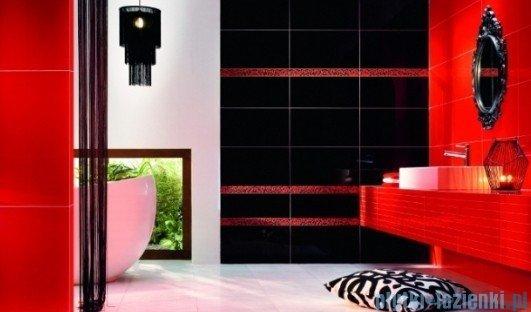 Płytka podłogowa Tubądzin Colour Black&Red R.1 44,8x44,8