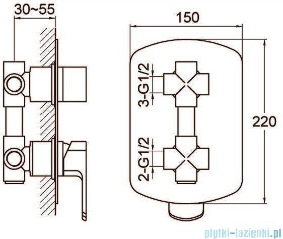 Kohlman Foxal zestaw prysznicowy chrom QW211FQ35-009