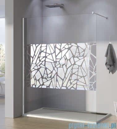SanSwiss Walk-in Pur PDT4P Kabina 140x200cm szkło dekor kamienie PDT4P1401064