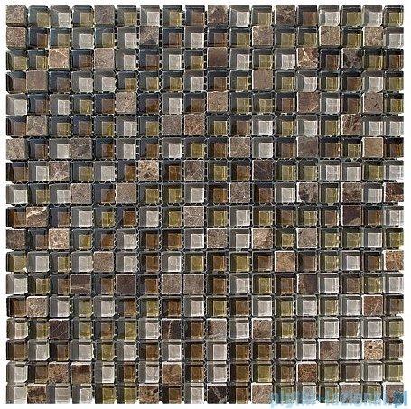 Dunin Aurora mozaika kamień/szkło 30x30 bronzite 15