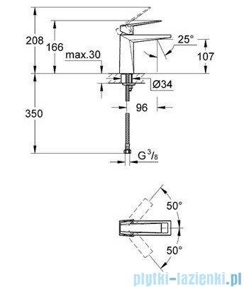 Grohe Allure Brilliant bateria umywalkowa DN 15 bez zestawu odpływowego chrom 23033000