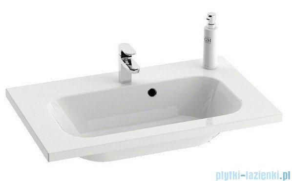 Ravak Umywalka Chrome 800 biała z otworami 80x49 cm XJG01180000
