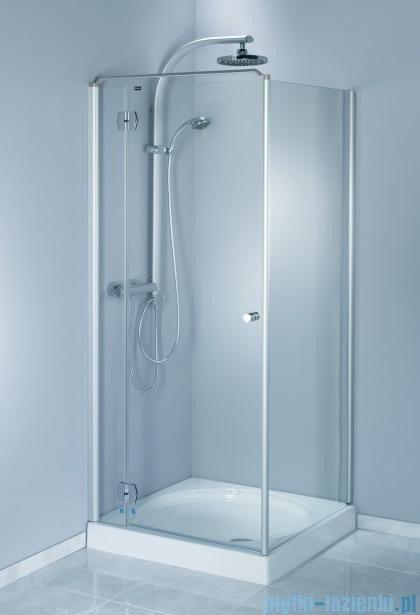 Aquaform Sol drzwi kabinowe do montażu ze ścianką De Luxe 80cm szkło przejrzyste lewe 06050