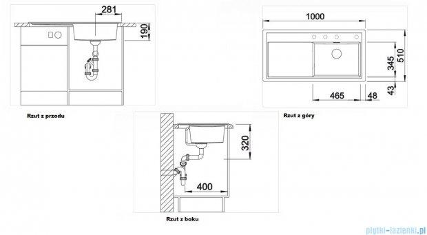 Blanco Zenar XL 6 S  Zlewozmywak Silgranit PuraDur komora prawa kolor: kawowy z kor. aut. i jesionową deską do krojenia 519239