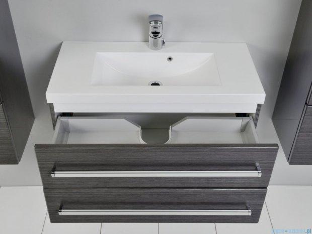 Antado Spektra szafka z umywalką, wisząca 80x39x40 grafit połysk FDF-C-442/8/2GT-46 + UMMC-800x390