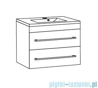 Antado Variete ceramic szafka podumywalkowa 2 szuflady 82x43x50 szary połysk FM-AT-442/85/2-K917