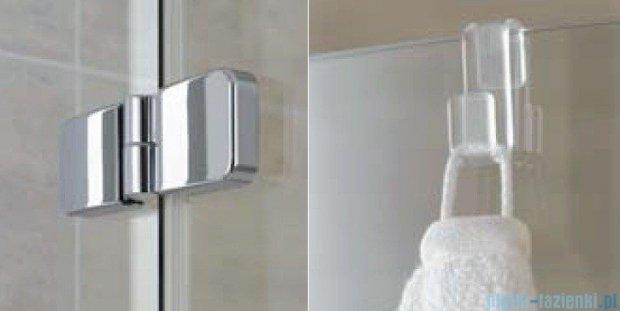 Kermi Gia XP Wejście narożne, połowa kabiny, prawa, szkło przezroczyste, profile srebro mat 80x185cm GXESR080181AK
