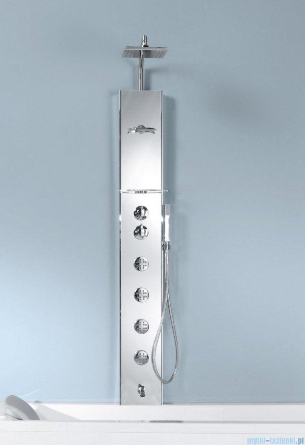 Novellini Aqua 1 Cascata 2 panel prysznicowy lustrzany bateria mechaniczna CASC2VM-W