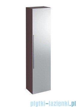 Keramag Icon Szafka wisząca boczna wysoka z lustrem 150cm burgund połysk 840151