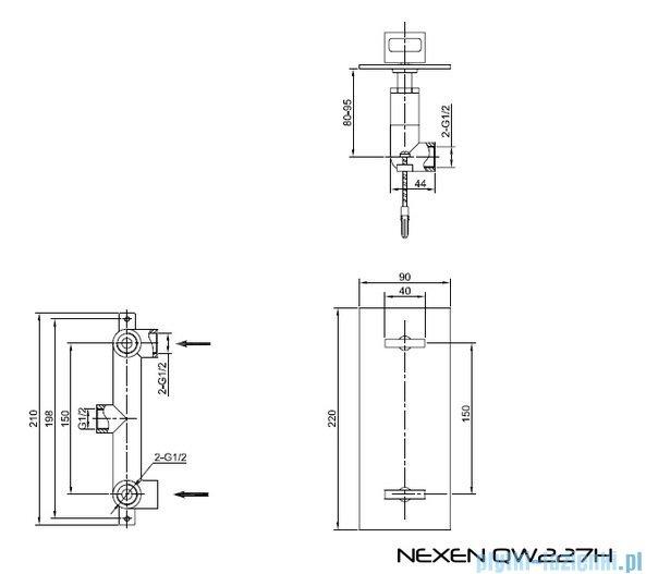 Kohlman Nexen Podtynkowa bateria prysznicowa QW227U