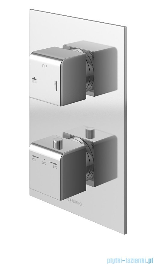 Kohlman Excelent zestaw prysznicowy z baterią termostatyczną chrom QW432HQ20