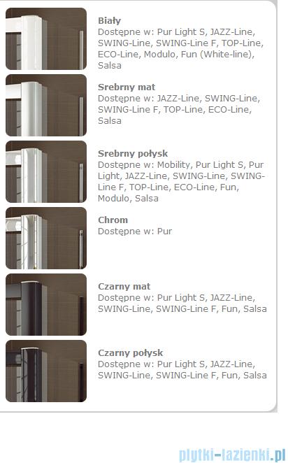 SanSwiss Swing Line F SLF2 Wejście narożne z drzwiami 90cm profil połysk Prawe SLF2D09005007