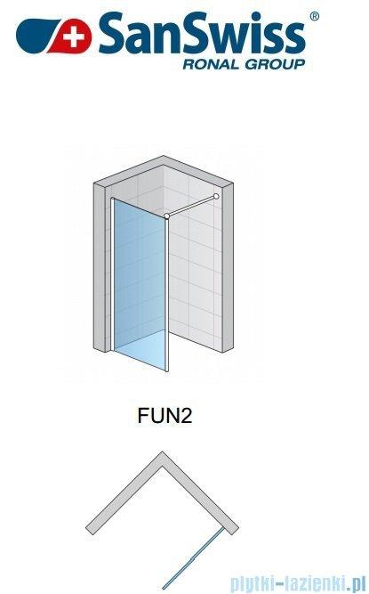 SanSwiss Fun Fun2 Ścianka jednoczęściowa 40-130cm profil połysk FUN2SM15007