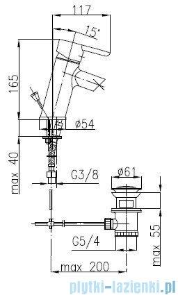KFA BAZALT Bateria umywalkowa stojąca 4702-815-00