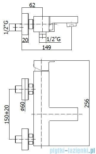Paffoni  Bateria wannowa, chrom Effe EF022CCR