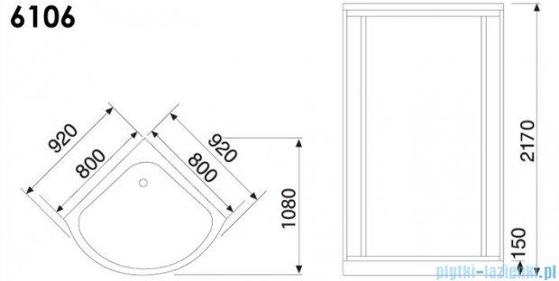 Duschy Kabina masażowo-parowa 80x80cm model 6106