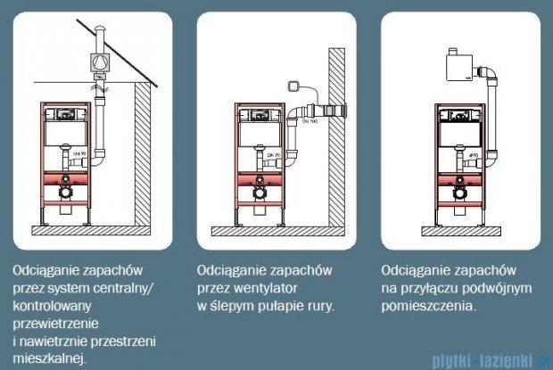 Tece Uniwersalny stelaż podtynkowy do WC z uruchomieniem z przodu z wyjściem odciągu zapachów Teceprofil 9.300.003