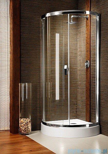 Radaway Diana Kabina półokrągła 90x90 szkło fabric + brodzik Patmos B + syfon 30302-01-06