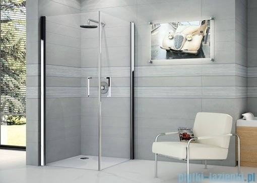 Novellini Ścianka prysznicowa GIADA 2G 69 cm prawa szkło przejrzyste profil biały GIADN2G69LD-1A