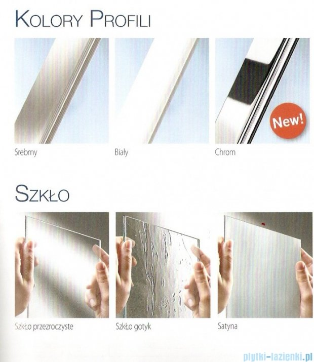 Novellini Parawan Aurora3 98x150cm profil biały szkło aqua AURORAN3-2A