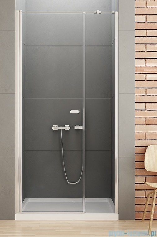 New Trendy New Soleo Plus drzwi wnękowe z wspornikiem krzyżakowym 120x195 cm przejrzyste D-0141A/D-0094B-WP