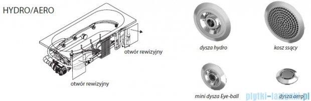 Riho Lyra wanna asymetryczna lewa 170x110 z hydromasażem Hit Hydro 6+4+2/Aero11 BA64H3
