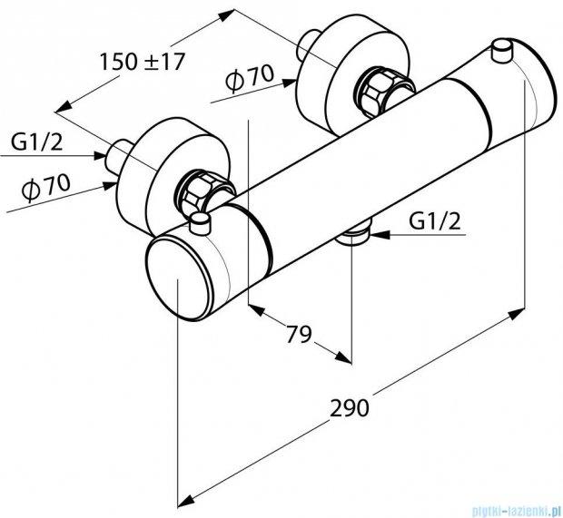 Kludi Balance Bateria natryskowa z termostatem DN 15 chrom 352500575